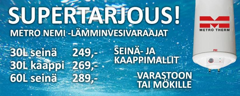 Metro Nemi lämminvesivaraaja tarjous!