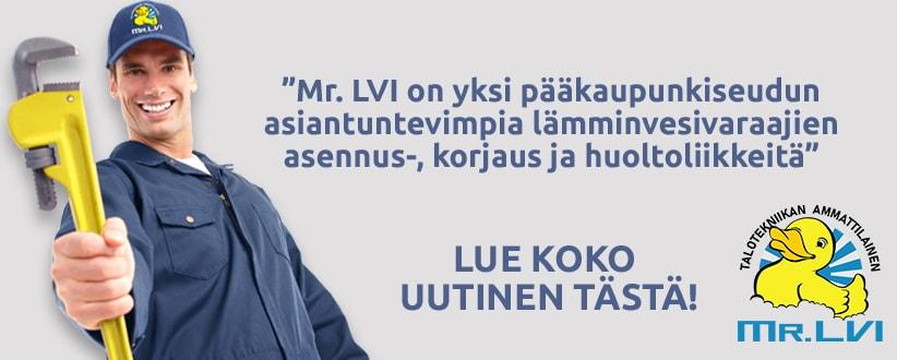 Uutinen: Mr.LVI huoltaa ja asentaa ammattitaidolla